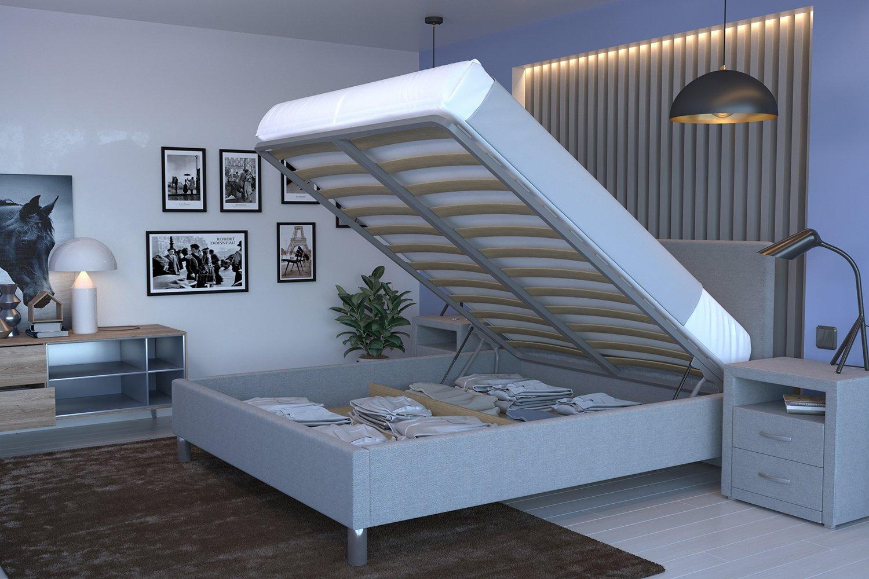 кровать в спальне фото
