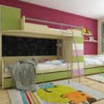 кровати для троих детей идеи декора