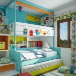 кровати для троих детей интерьер идеи