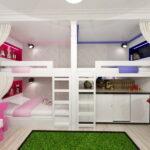 кровати для троих детей виды оформления