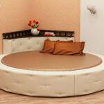 круглая кровать интерьер