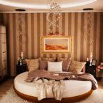 круглая кровать оформление