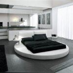 круглая кровать черный