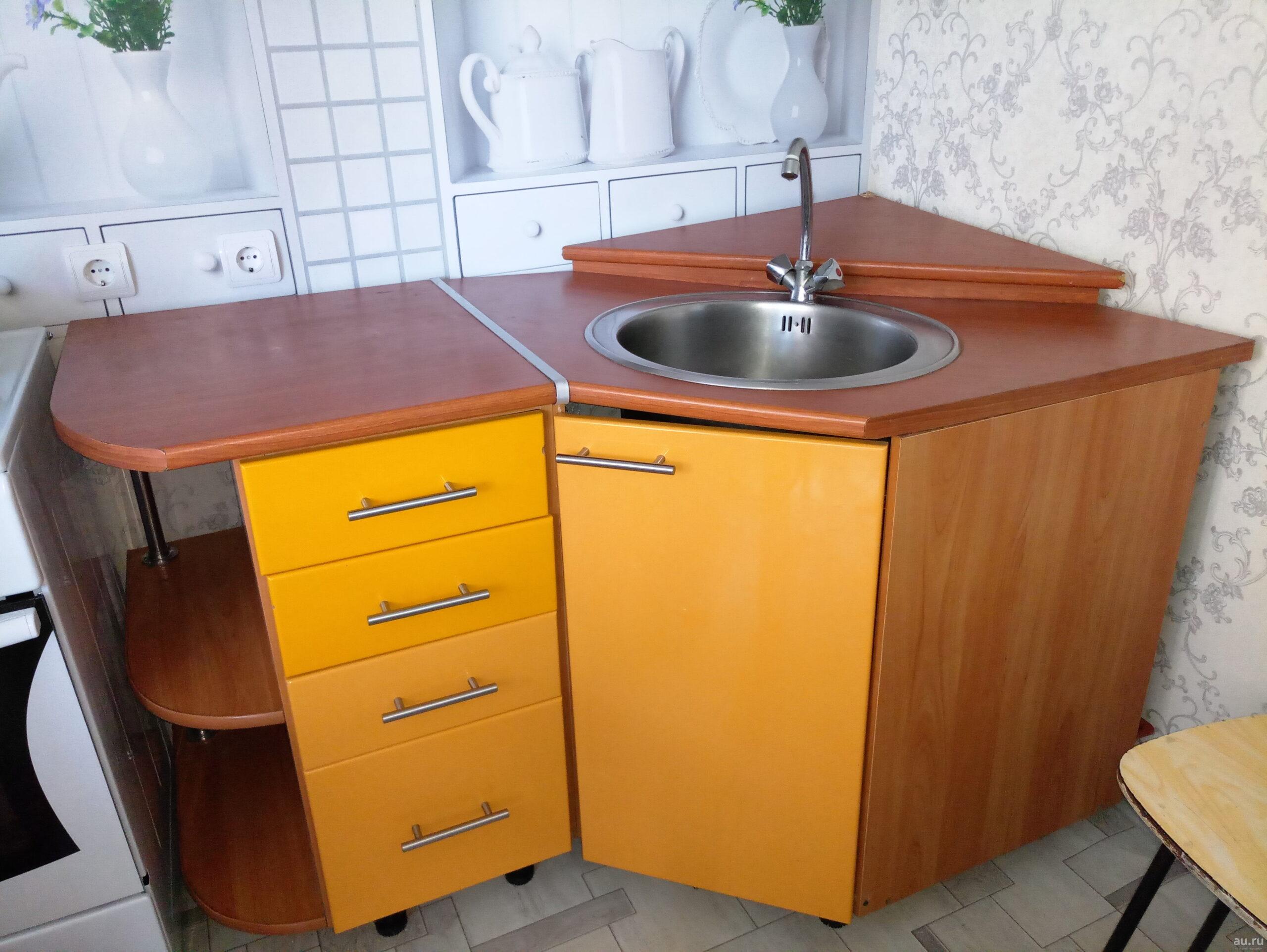 кухонная мойка с тумбой угловая