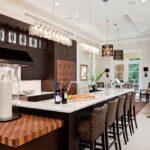лампа над кухонным столом фото интерьер