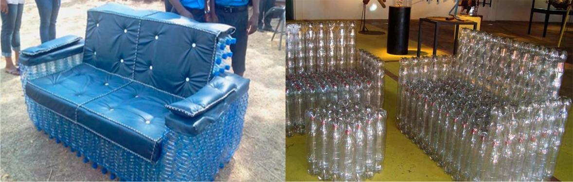 кресло из бутылок пластиковых фото сама