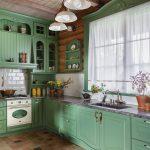 мебельный гарнитур на кухне декор фото