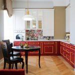 мебельный гарнитур на кухне фото декор