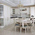 мебельный гарнитур на кухне интерьер