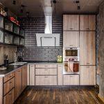 мебельный гарнитур на кухне фото интерьер