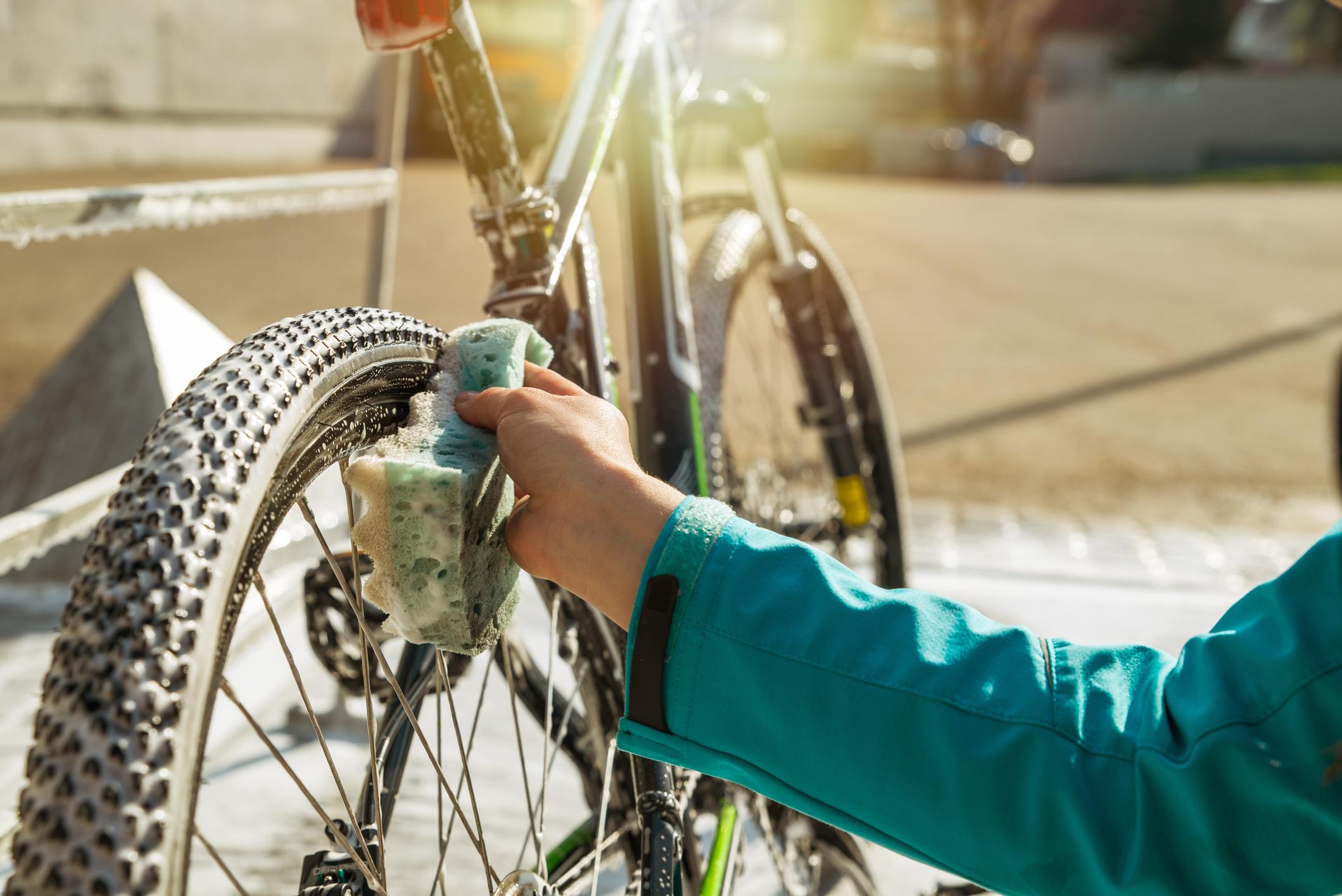 мытье и сушка велосипеда