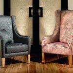 мягкое кресло серое и розовое