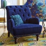 мягкое кресло синее