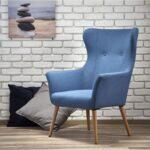 мягкое кресло голубое