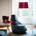 мягкое кресло серый мешок