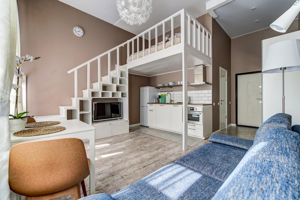 небольшая квартира в два уровня