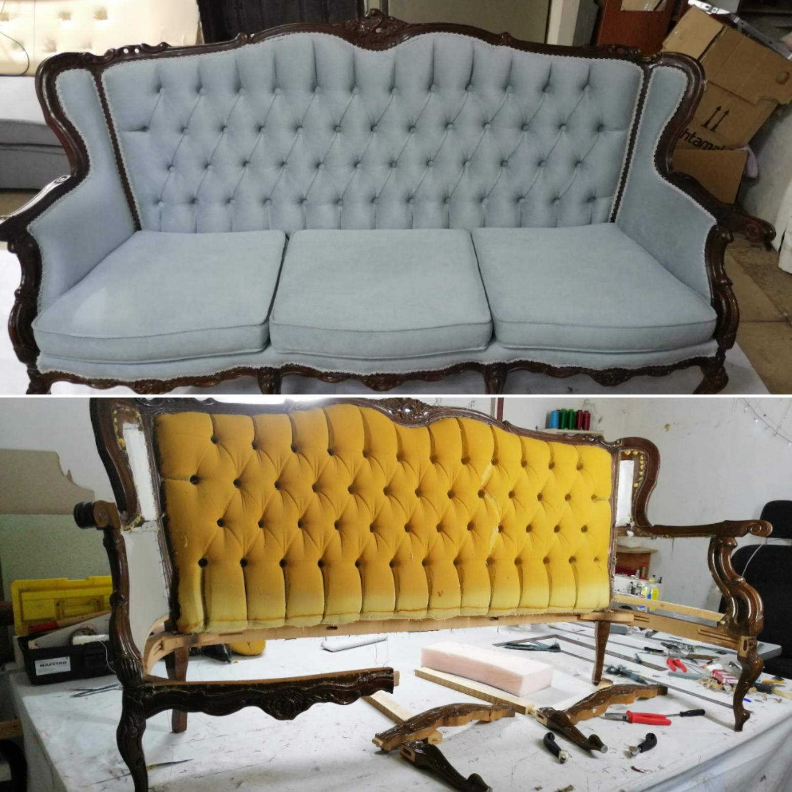 перетяжки дивана
