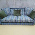 диван перетяжка голубой
