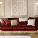 диван перетяжка коричневый