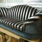 диван обтяжка в полоску