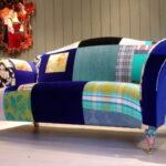диван обтяжка яркий