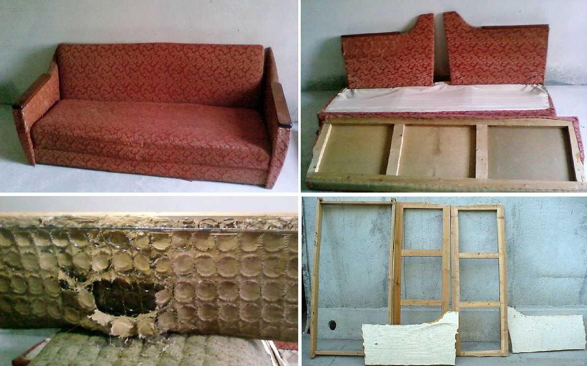 Реставрация советского дивана