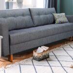 диван обтяжка серый
