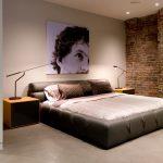 пример темно-коричневой спальни