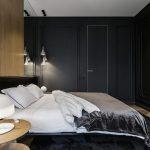 небольшая темная спальня