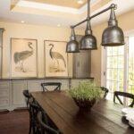 освещение над кухонным столом дизайн