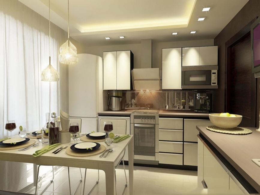 освещение над кухонным столом фото дизайн