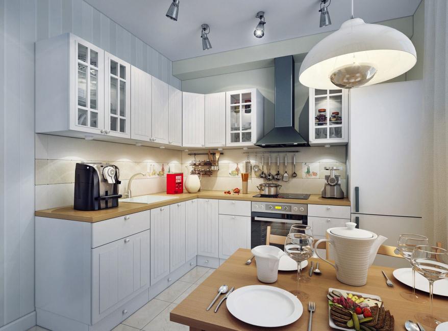 освещение над кухонным столом фото дизайна