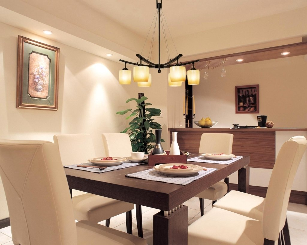 освещение над кухонным столом фото идеи