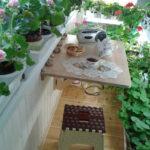 столик на балкон трансформер