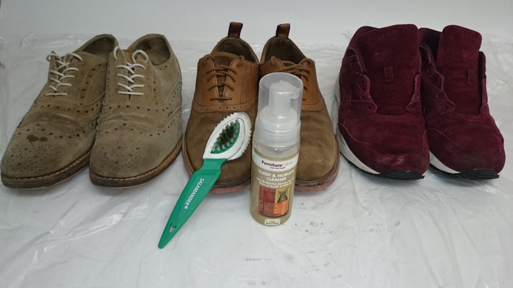 пена для замшевой обуви
