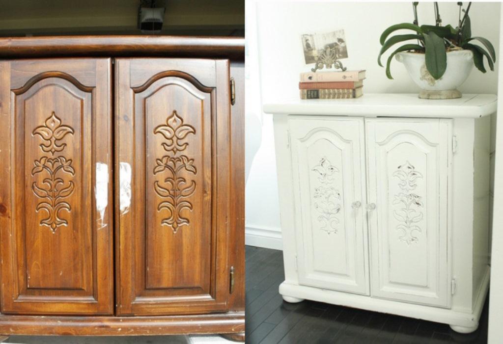 перекраска мебели в белый