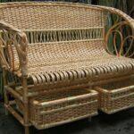 диван плетеный с ящиками