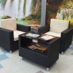 черная мебель плетеная