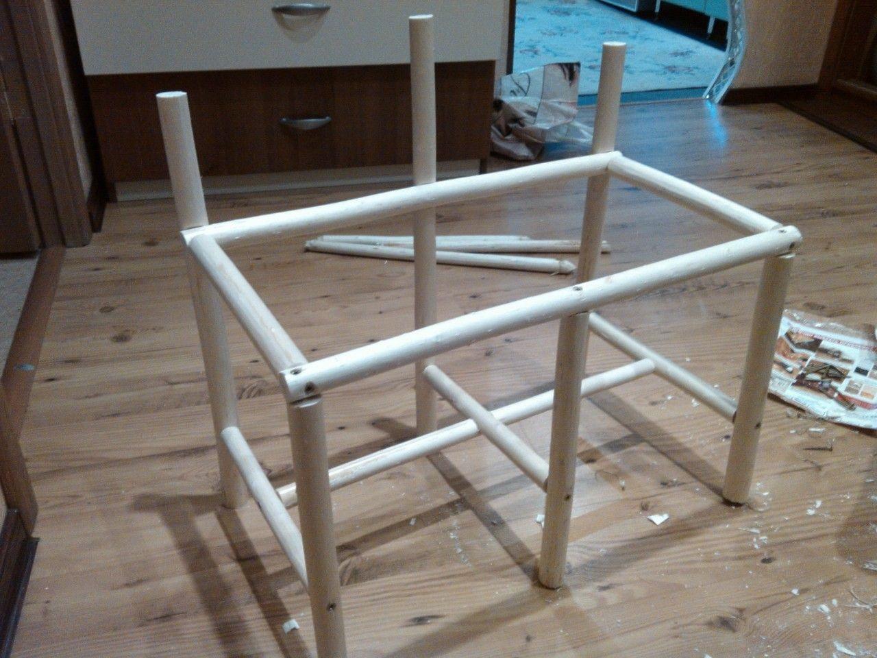 каркас для плетеного стола