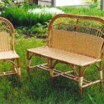 скамейка для сада плетеная