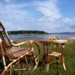 кресло и стол плетеные