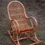 кресло каалка коричневое
