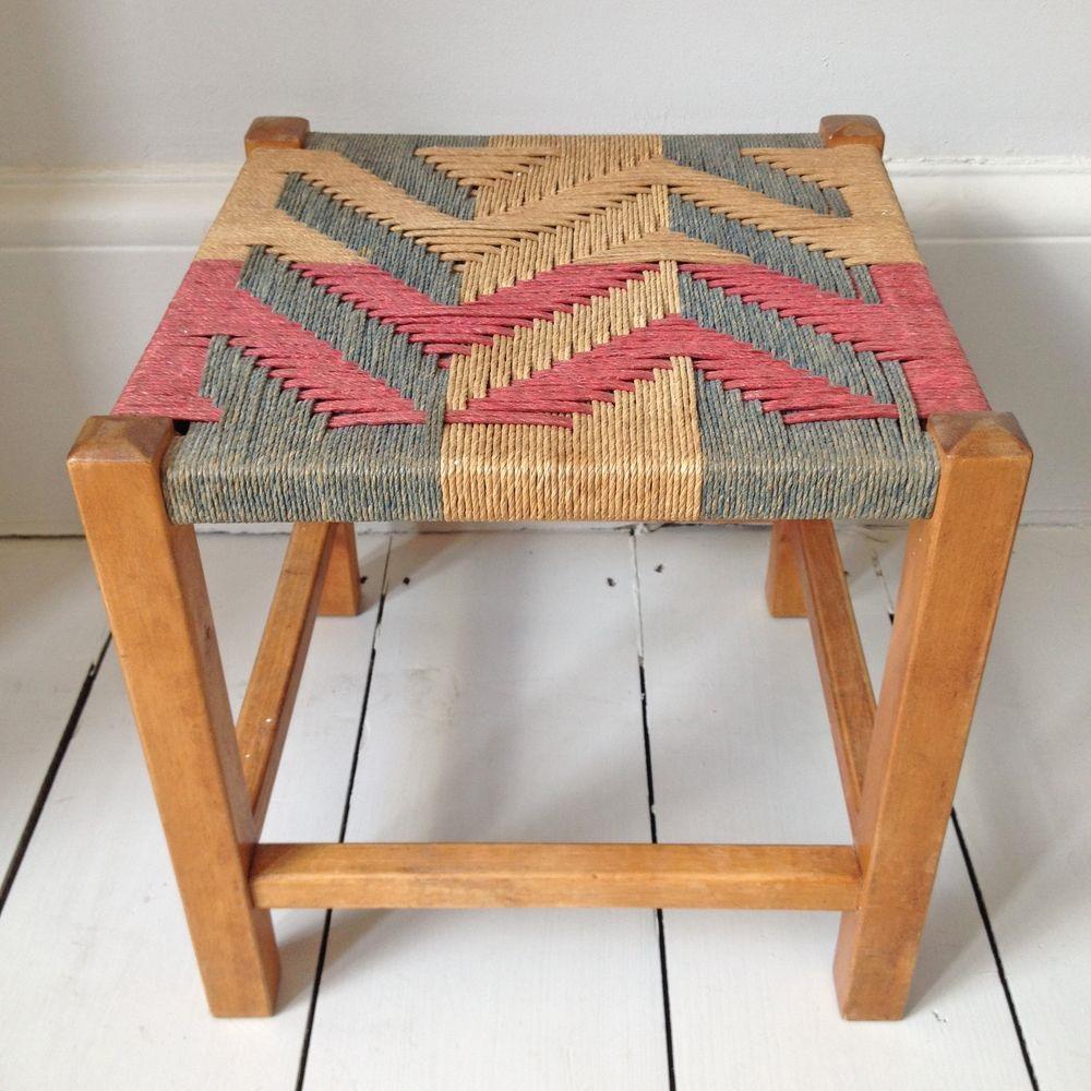 плетение табурета