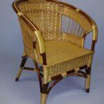 кресло желтое плетеное