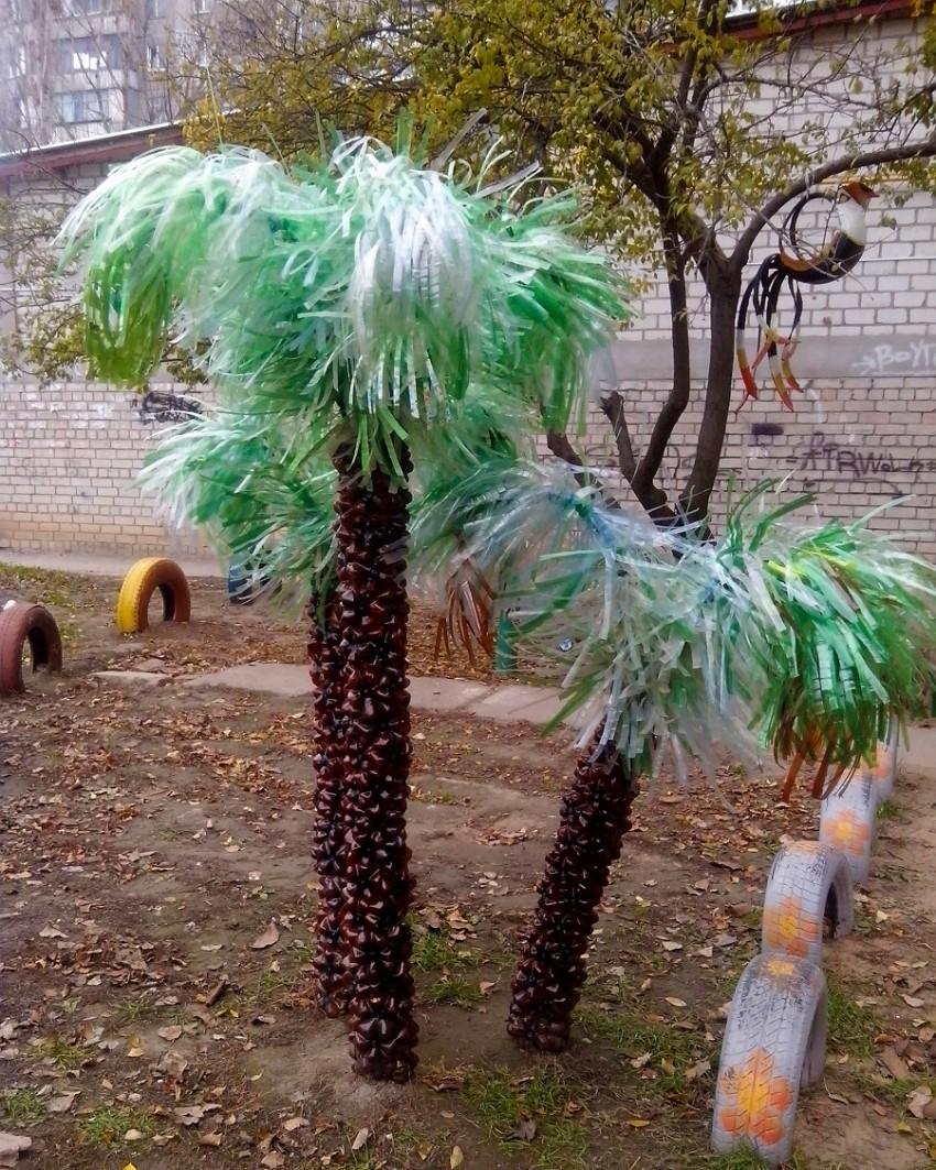 пальмы из пластиковых бутылок картинки закружилась жизни
