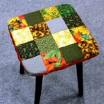 подушка для стула из квадратов