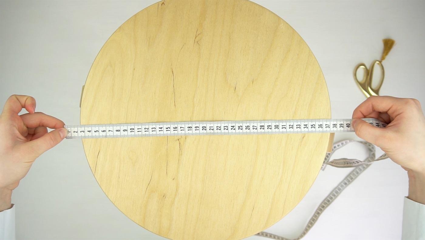 измерение стула для подушки