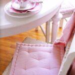 подушка для стула розовая светлая