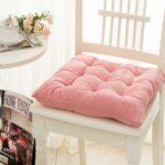 розовая стеганая подушка для стула