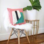 подушка для стула с бахромой